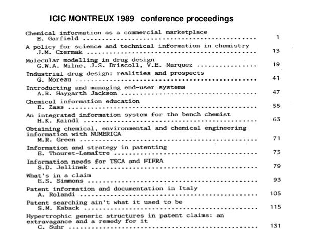 ICIC MONTREUX 1989 conference proceedings