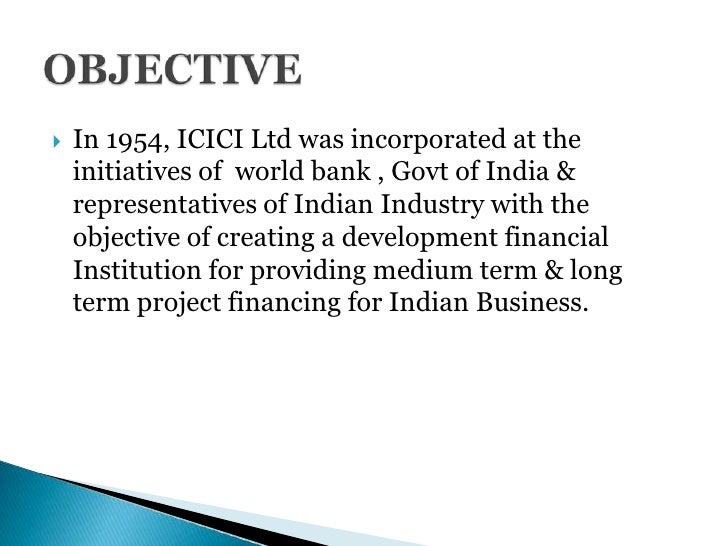 main function of icici bank and its objectives The icici bank employees are very busy and have little time to spare for off the  job assignment and therefore might not have  importance of morale  job  satisfaction: biggest challenge faced by hrd.