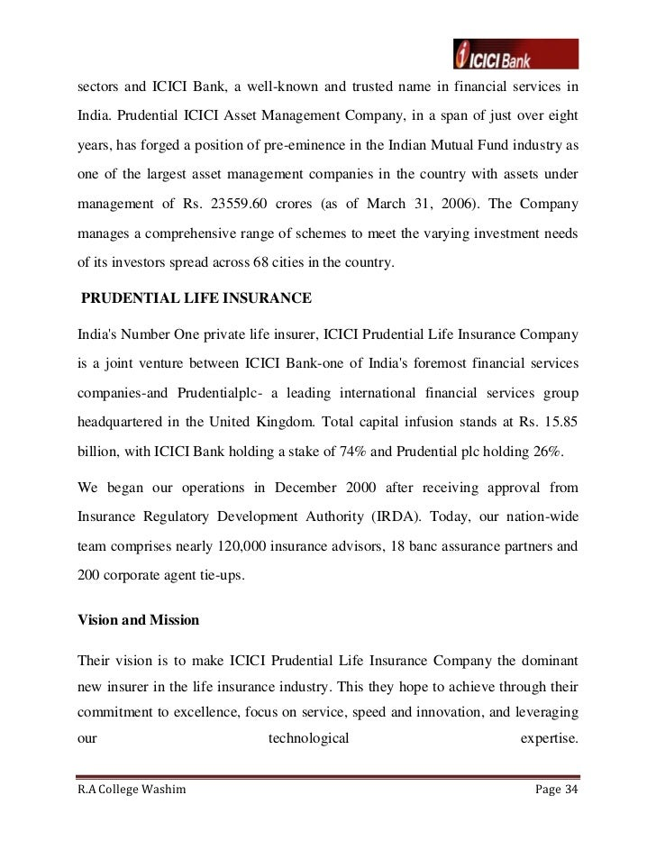 icici prudential multiple channel distribution essay Service encyclopedia of icici prudential life insurance commerce essay published: november 7, 2015 icici prudential life insurance is one of the largest insurance.