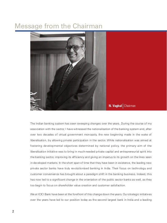 icici bank change management case study Change management at icici this entire case study is about the implementation of change in an organization kundapur vaman kamath is the man most credited with building the industrial credit and investment corporation of india ltd (icici), mumbai, into india's largest private sector bank.
