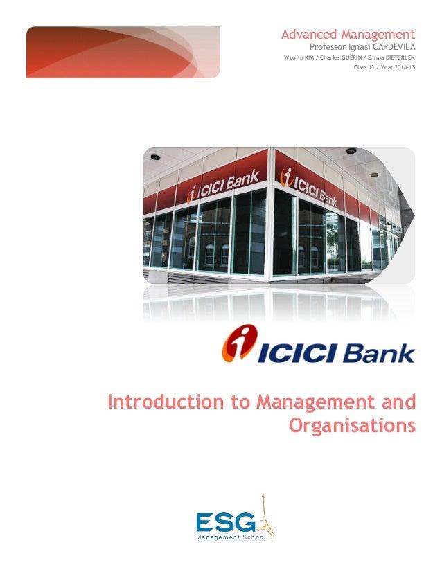 management of icici bank
