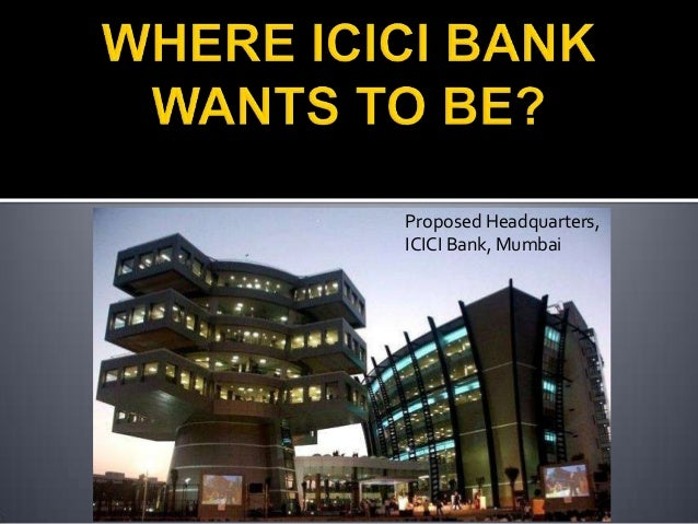 Marketing mix for icici bank