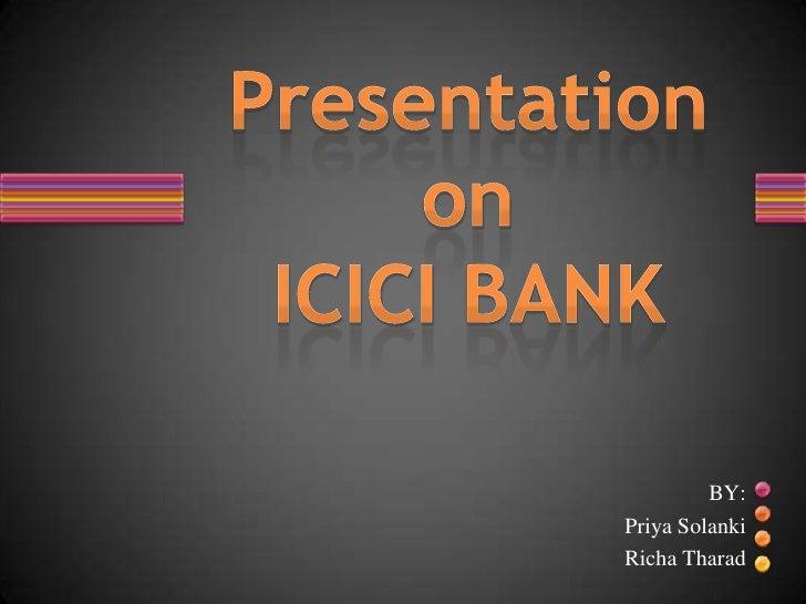 Icici Bank Ppt