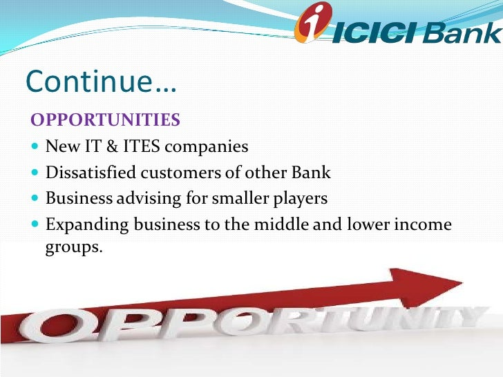 conclusion on icici bank Volume 10, issue 3 (may - jun 2013), pp 57-59 wwwiosrjournalsorg comparative study of housing loan of hdfc and icici bank.