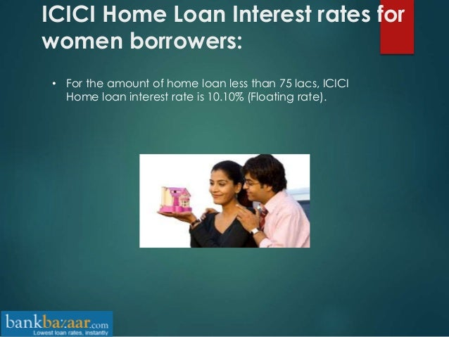 ICICI Bank home loan interest rates
