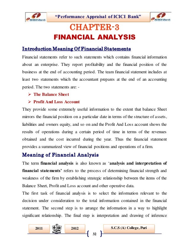 performance appraisal for icici bank Performance appraisal of innovative banks: a research on performance appraisal of icici bank with special reference to innovative banking.