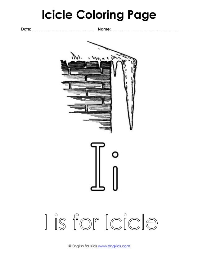 free iicicle coloring page