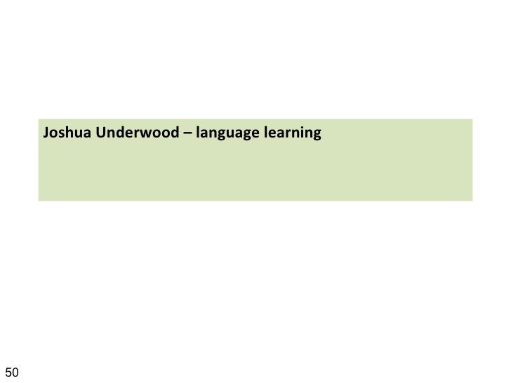 Joshua Underwood – language learning 50