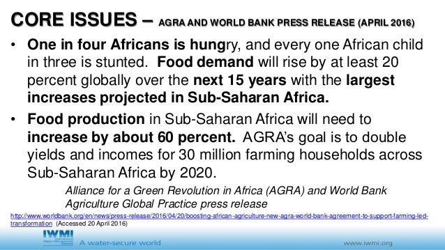 agricultural world issues notes 18012011  farmers list top issues impacting  and supplying the growing global demand for commodities arising from developing economies and world population.