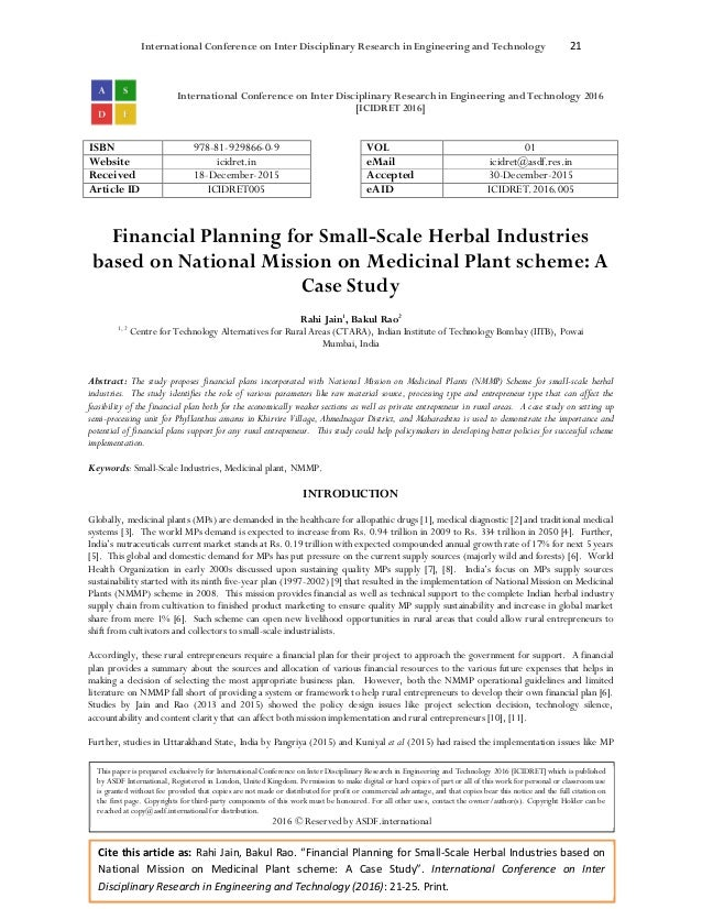 financial planning research paper