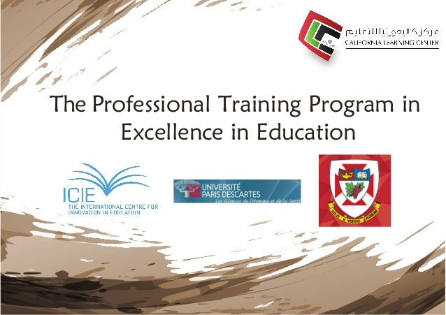 The Professional Training Program in Excellence in Education