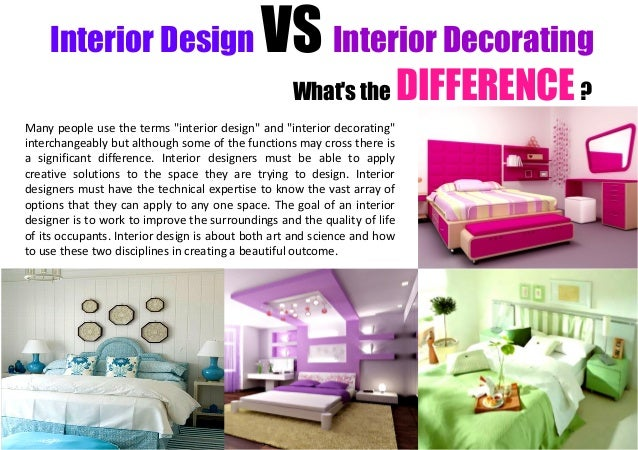 Interior design vs decorator iron blog for What is interior decoration