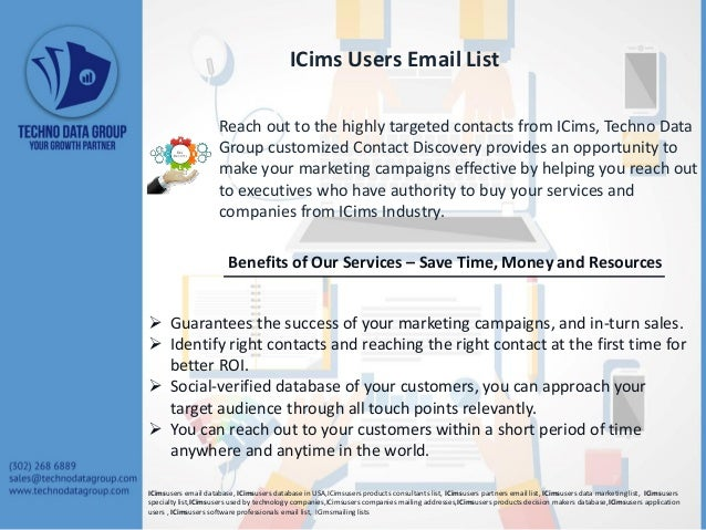 ICims Users Email List Slide 2