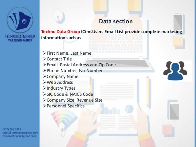 ICims Users Email List Slide 3