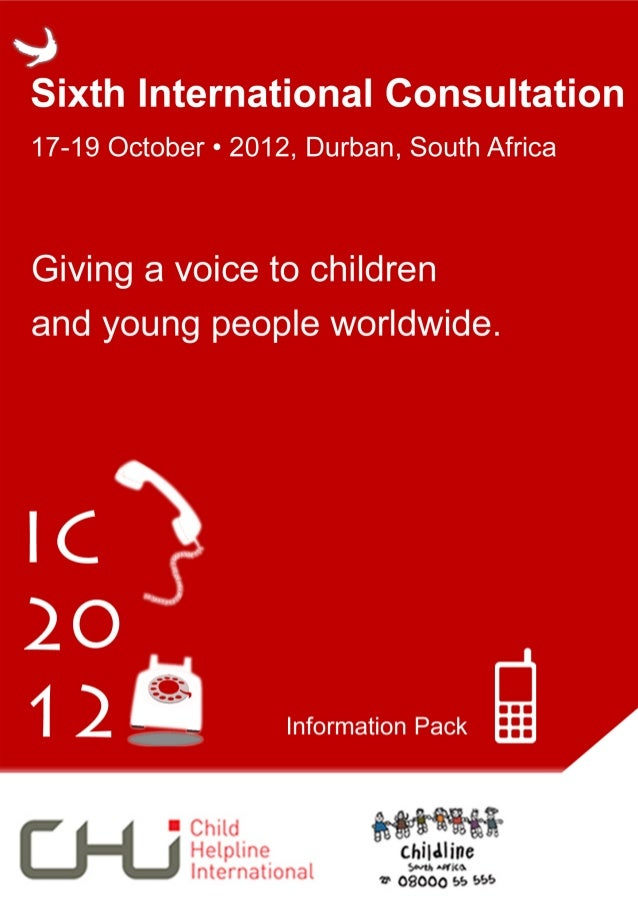 Dear Friends,A warm welcome to the International       •   General information on what toConsultation 2012, generously ho...