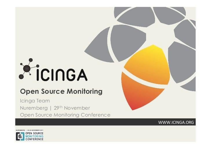 Open Source MonitoringIcinga TeamNuremberg | 29th NovemberOpen Source Monitoring Conference                               ...