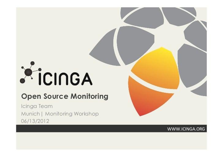 Open Source MonitoringIcinga TeamMunich| Monitoring Workshop06/13/2012                              WWW.ICINGA.ORG