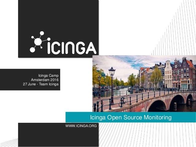 WWW.ICINGA.ORG Icinga Open Source Monitoring Icinga Camp Amsterdam 2016 27 June - Team Icinga