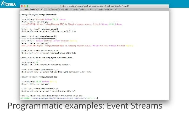 Programmatic examples: Event Streams