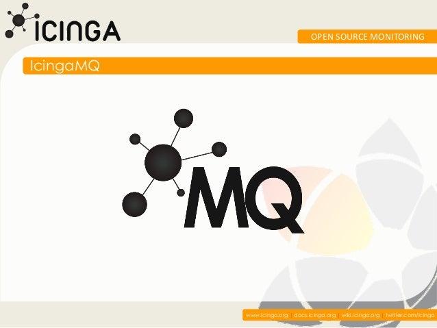 OPEN SOURCE MONITORINGIcingaMQ           www.icinga.org   docs.icinga.org   wiki.icinga.org   twitter.com/icinga