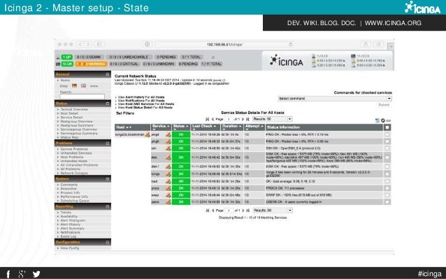 DEV. WIKI. BLOG. DOC.   WWW.ICINGA.ORG Icinga 2 - Master setup - State #icinga