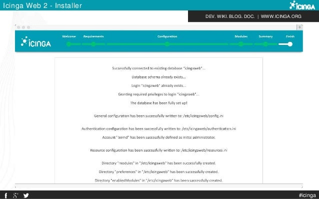 DEV. WIKI. BLOG. DOC.   WWW.ICINGA.ORG Icinga Web 2 - Installer #icinga