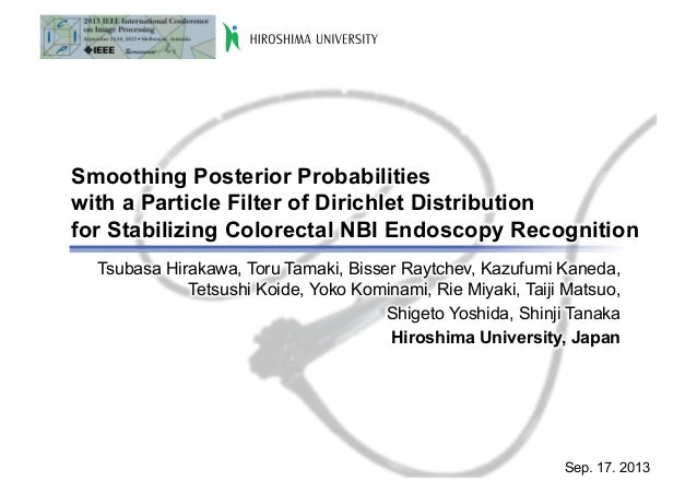 Smoothing Posterior Probabilities with a Particle Filter of Dirichlet Distribution for Stabilizing Colorectal NBI Endoscop...