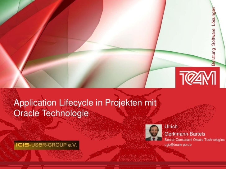 Beratung Software LösungenApplication Lifecycle in Projekten mitOracle Technologie                                        ...