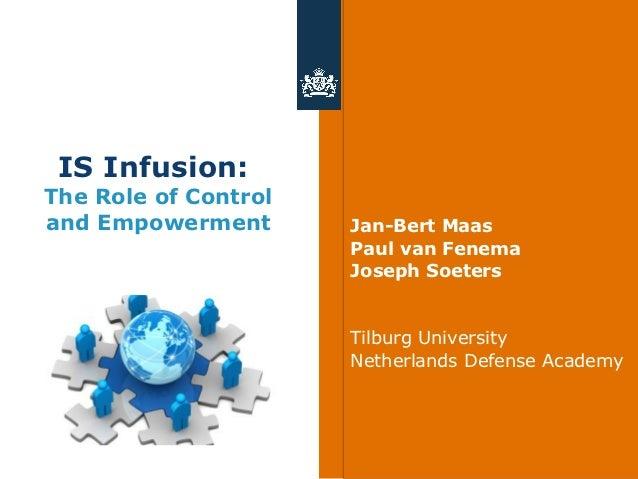 IS Infusion:The Role of Controland Empowerment       Jan-Bert Maas                      Paul van Fenema                   ...