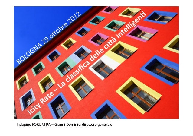 Indagine FORUM PA – Gianni Dominici dire7ore generale
