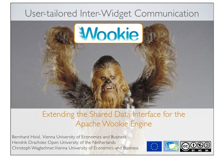 User-tailored Inter-Widget Communication Extending the Shared Data Interface for the Apache Wookie Engine