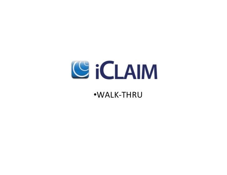 •WALK-‐THRU