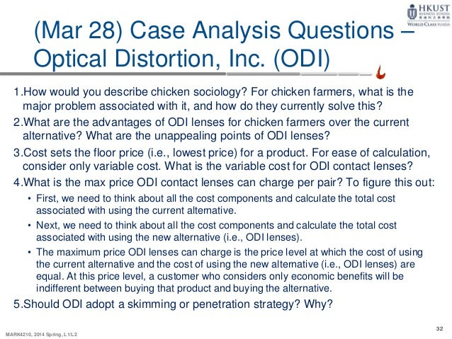 optical distortion inc case solution This section contains the case assignments for the course and associated discussion questions provided to guide assigned case readings a group case analysis write-up is required for the sonance case, and details can be found in the assignments section of this course optical distortion, inc (a) harvard business.