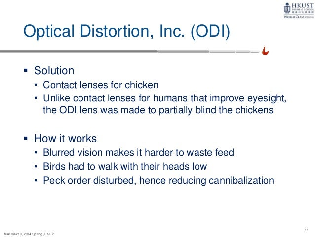 odi contact lens marketing strategy Optical distortion inc is a small new company with a patent for an innovative new product which is a contact lens designed to impair the eyesight of chickens the analysis in this paper provides recommendations for odi on their marketing and pricing strategy to launch this new product.
