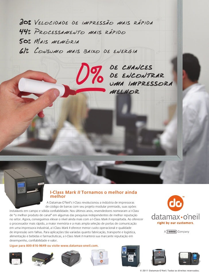 20% Velocidade de impressão mais rápida       44%Processamento mais rápido       50%Mais memória       61% Consumo mai...