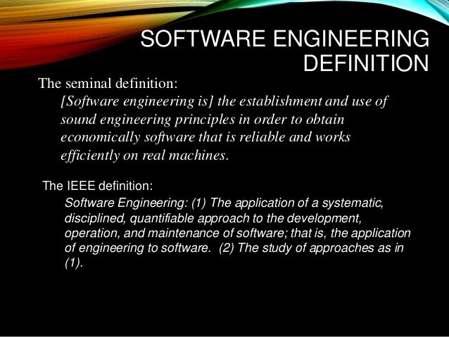 Introduction To Software Engineering Amp Information Technology