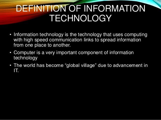 types of technology pdf
