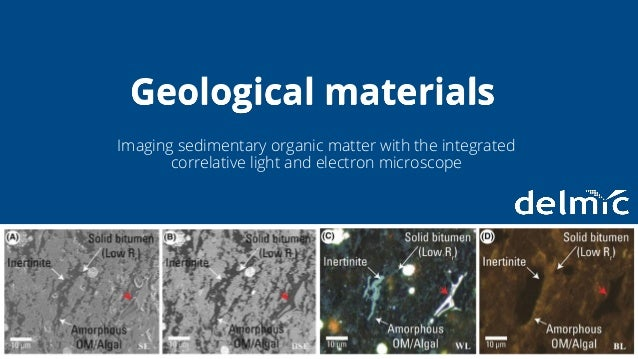 Integration without compromise Imaging sedimentary organic matter with the integrated correlative light and electron micro...
