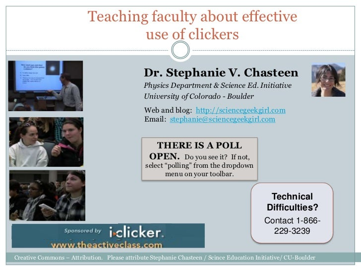 Teaching faculty about effective                                  use of clickers                                         ...