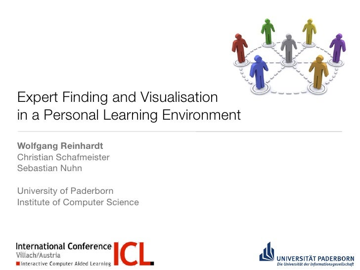 Expert Finding and Visualisation in a Personal Learning Environment Wolfgang Reinhardt Christian Schafmeister Sebastian Nu...