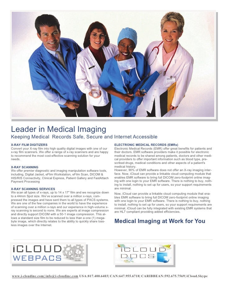 Leader in Medical ImagingKeeping Medical Records Safe, Secure and Internet AccessibleX-RAY FILM DIGITIZERS                ...