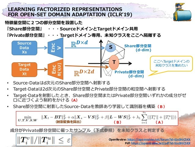 LEARNING FACTORIZED REPRESENTATIONS FOR OPEN-SET DOMAIN ADAPTATION (ICLR'19) OpenReview: https://openreview.net/forum?id=S...