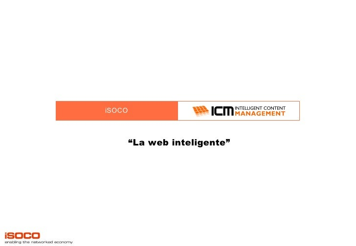"iSOCO "" La web inteligente"""
