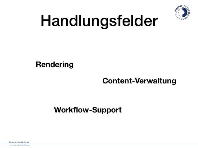 Donau-Universität Krems Die Universität für Weiterbildung Design Manual   Inhaltsverzeichnis Donau-Universität Krems Unive...