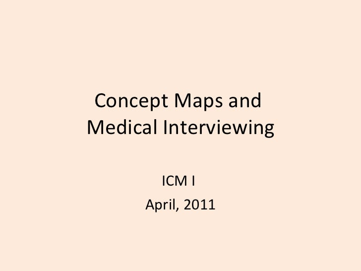 Concept Maps and  Medical Interviewing ICM I  April, 2011