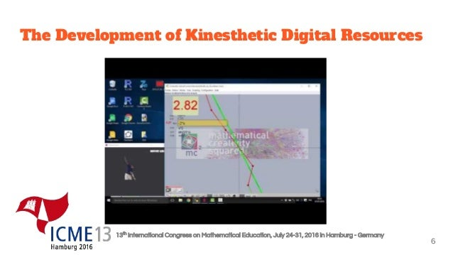 13th International Congress on Mathematical Education, July 24-31, 2016 in Hamburg - Germany The Development of Kinestheti...