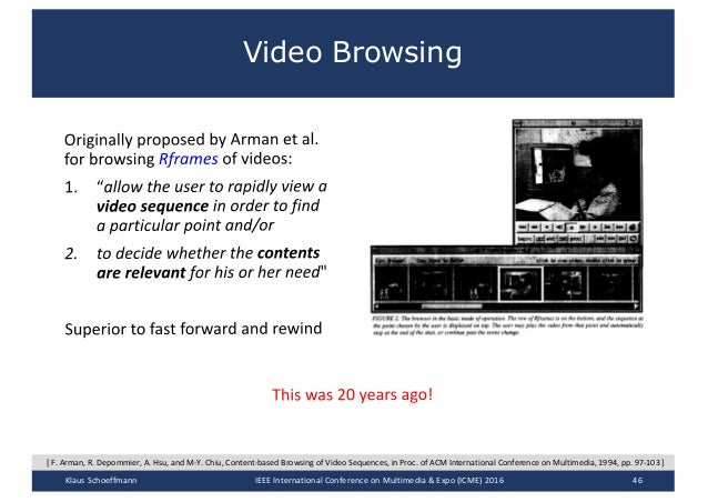 ICME 2016 - Tutorial on Interactive Search in Video