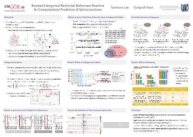 Boosted Categorical Restricted Boltzmann Machine for Computational Prediction of Splice Junctions Taehoon Lee SungrohYoon ...