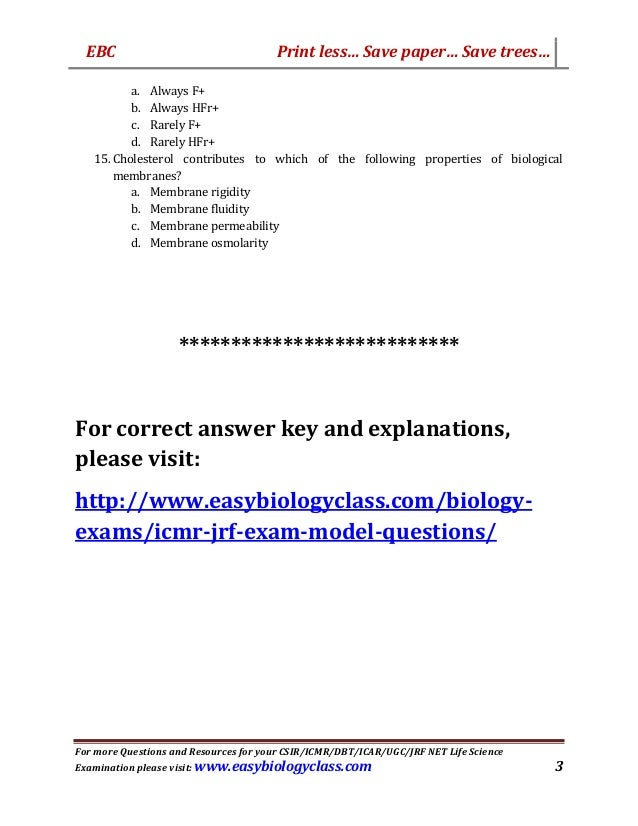 icmr jrf july 2016 solved question paper pdf model question paper by