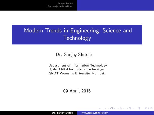 modern trends in engineering science and technology